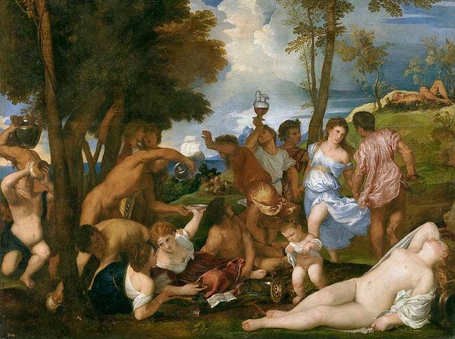 La Bacanal, una de las obras de Tiziano