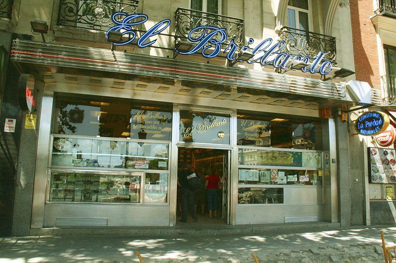 BAr el Brillante, lugar de bocatas de calamares en Madrid