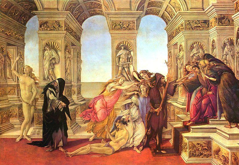 La calumnia de Apeles de Botticelli.