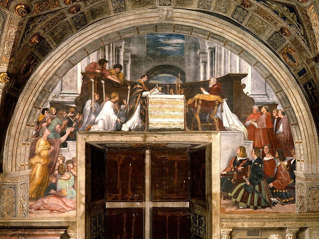 Misa de Bolsena, una de las obras de Rafael