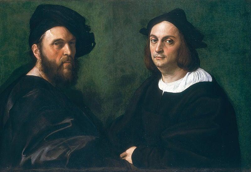 Retrato de Andrea Navagero y Agostino Beazzano de Rafael
