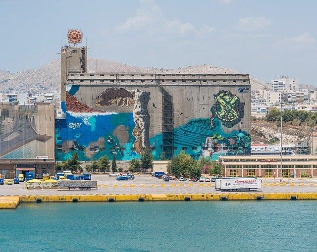 Graffitis en Atenas