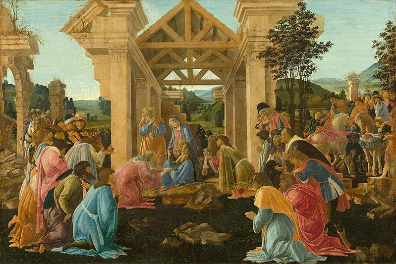 botticelli adoración de magos
