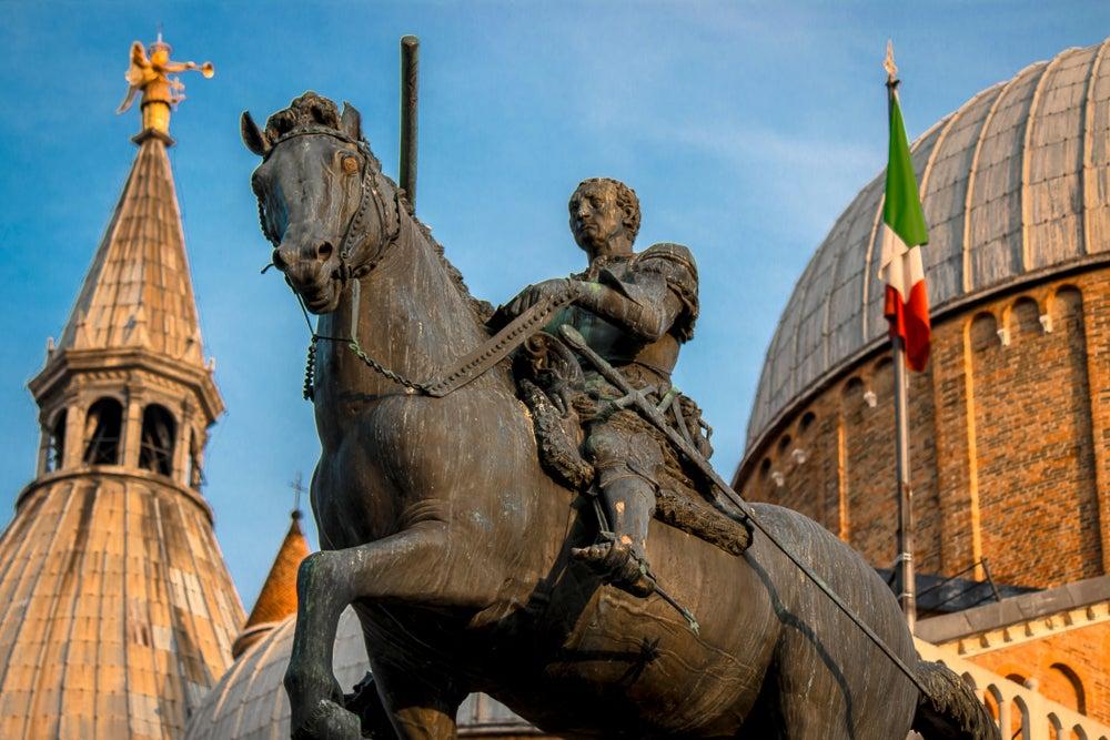 Condotiero Gattamelata de Donatello.