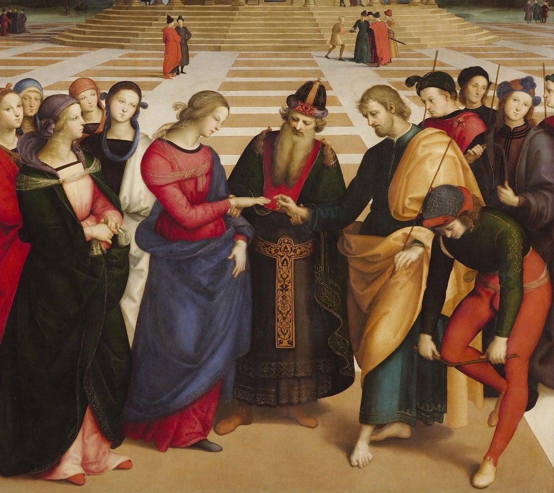 Los desposorios de la Virgen de Rafael