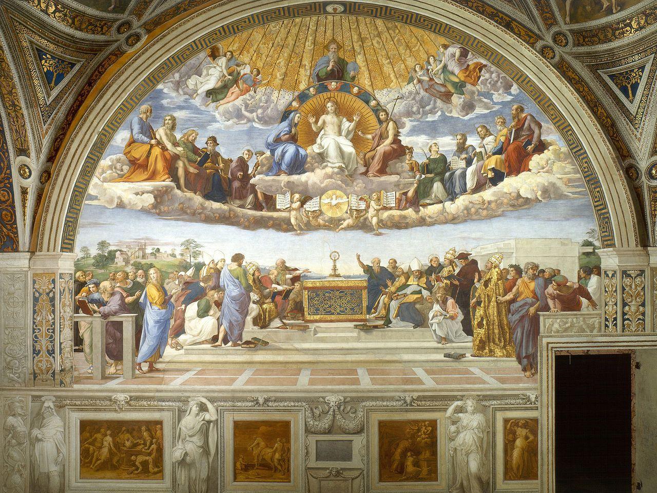 La disputa del Sacramente de Rafael