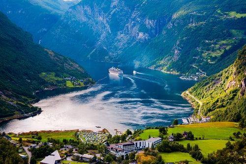 Fiordo Geiranger en Noruega