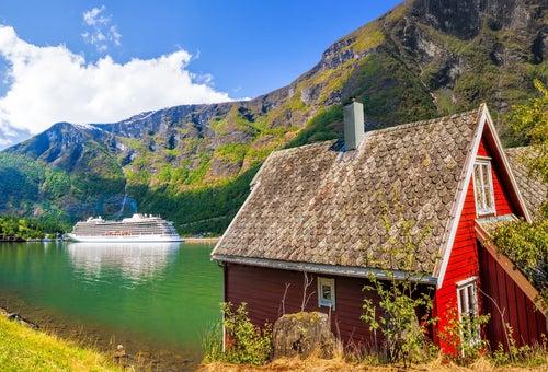 Flam, parada  cruceros por los fiordos noruegos