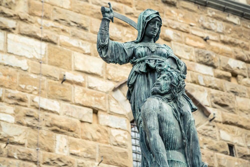 Judith y Holofernes de Donatello.