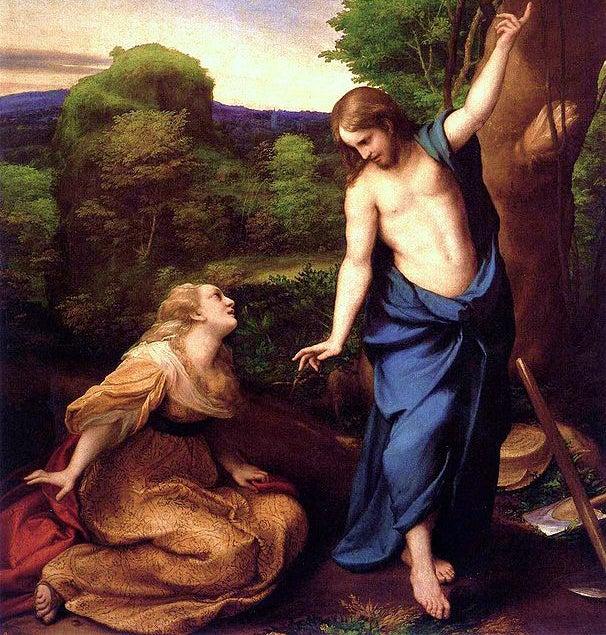 Noli me tangere de Correggio, uno de los pintores del Renacimiento.