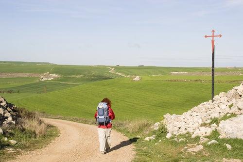 Peregrino a punto de hacer el Camino de Santiago