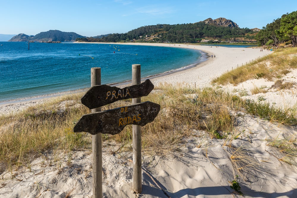 Playa de Rodas en las islas Cies de Galicia