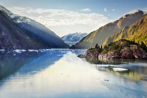 Fotos de Alaska, fiordo Tracy Arm
