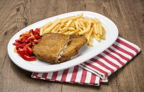 Cachopo, plato de comida asturiana