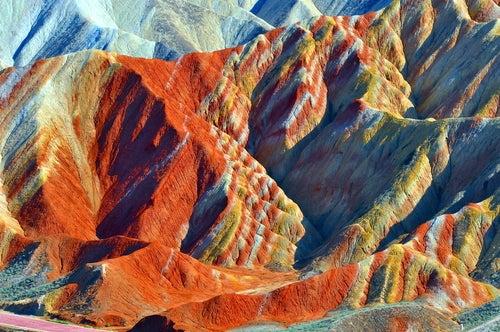 Montañas de Zhangye en China
