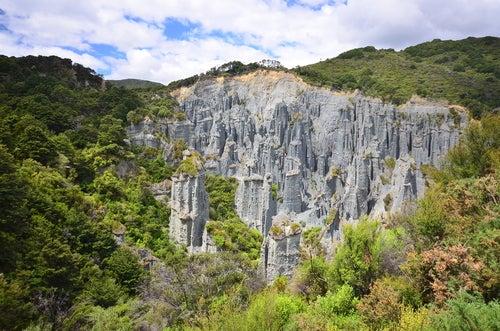 Pináculos dePutangirua en Nueva Zelanda