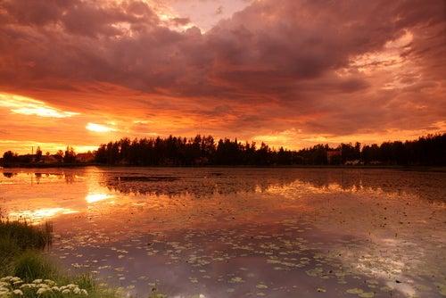 Sol de media noche en Finlandia