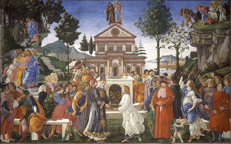 Las tentaciones de Cristo de Botticelli.