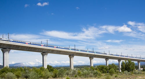 Tren de Interrail en Provenza