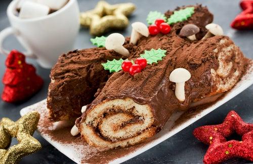 Tronco de NAvidad, uno de los postres navideños más ricos