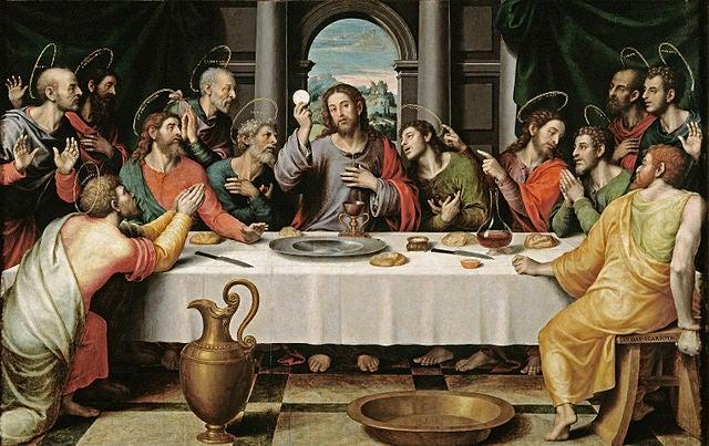 La última cena, de Juan de Juanes.