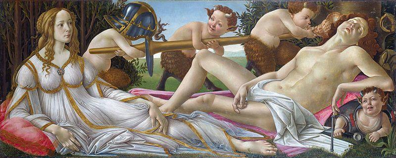 Venus y Marte de Botticelli.