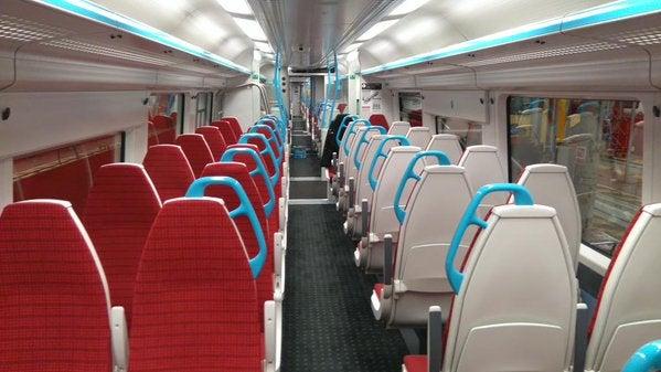 Interior del Gatwick Express