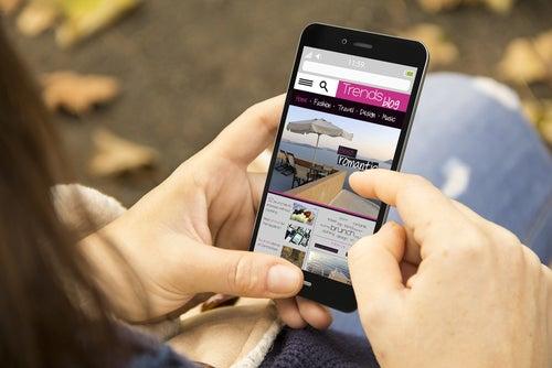 Aplicación móvil con consejos para viajeros