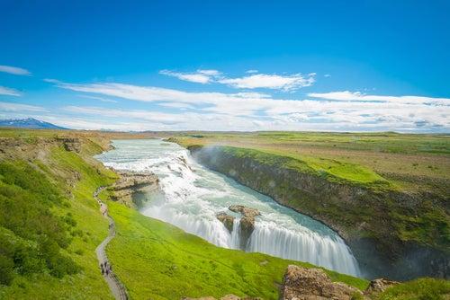 Cascada Gullfoss en Islandia