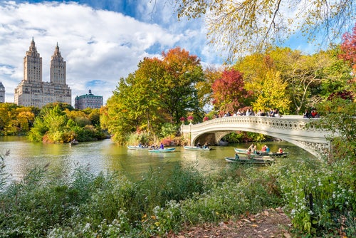 BowBridge en Central Park en Nueva York