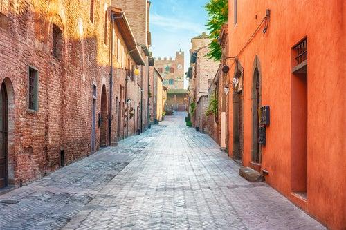 Certaldo en la Toscana