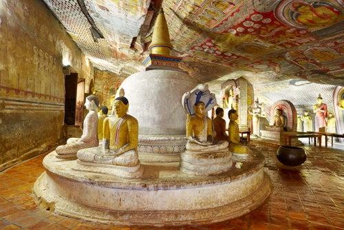 Cueva de Dambulla en Sri Lanka