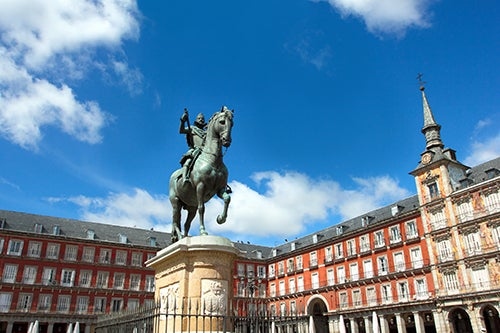 Estatua de Felipe III en la Plaza Mayor de Madrid