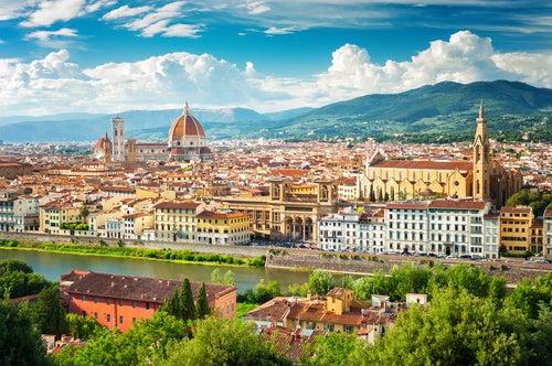 Vista de Florencia en Italia
