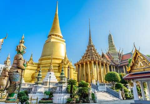 Gran Palacio deBangkok ejemplo de lujo asiático