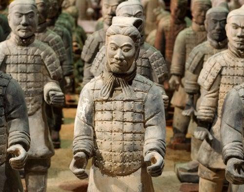 Los Guerreros de terracota en el mausoleo de Qin Shi Huang