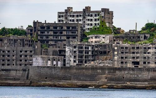 Isla Hashima en Japón