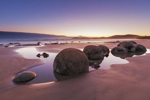 Playas sorprendentes, Koekohe Beach en Nueva zelanda