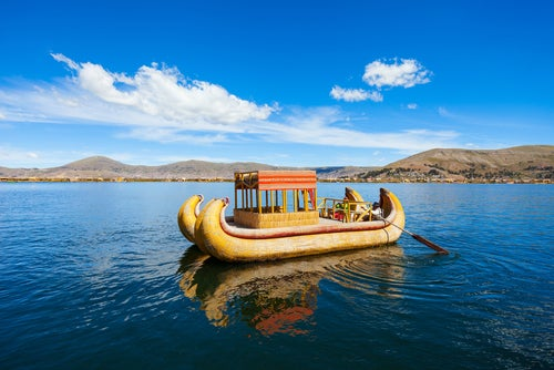 Lago Titicaca en Sudamérica