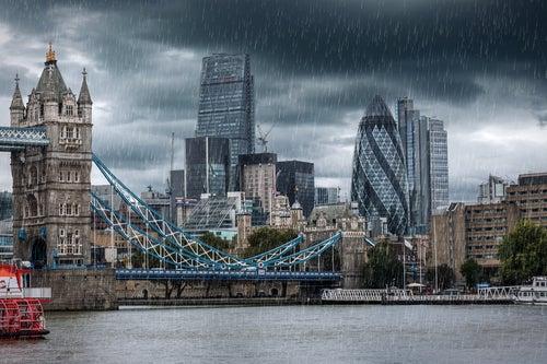 Londres lloviendo