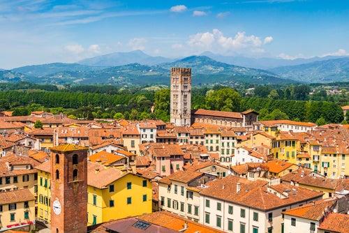 Vista de Lucca en Italia