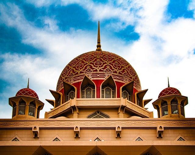 La mezquita Putra en Malasia.