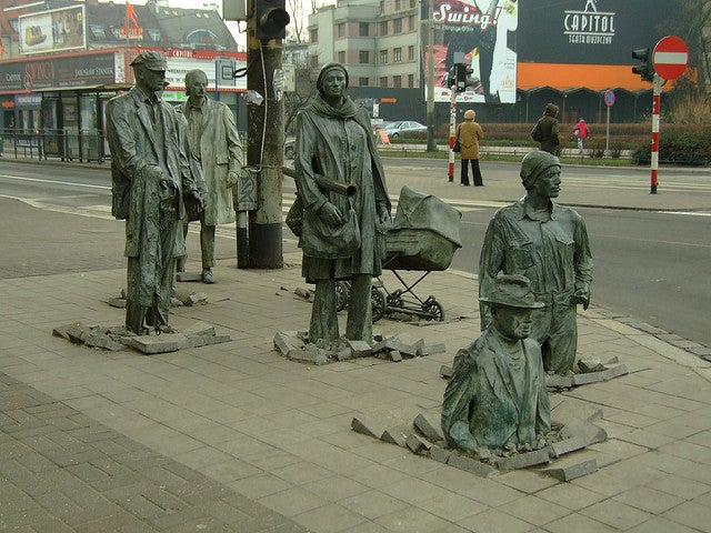 Monumento a los traseúntes de Breslavia