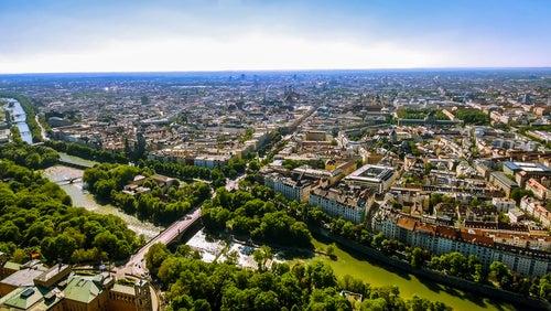El tiempo en Múnich, vista de la ciudad