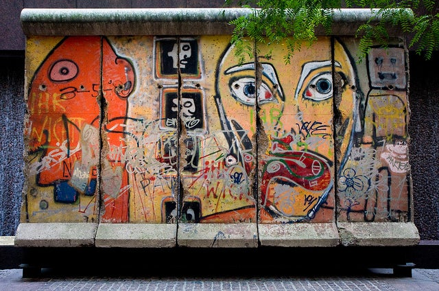 Fragmento del muro de Berlín en Nueva York