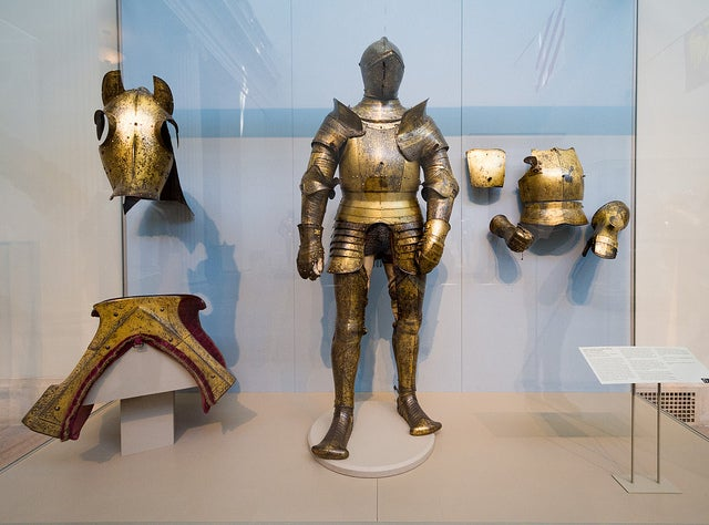 Armaduras en el Museo de Arte Metropolitano