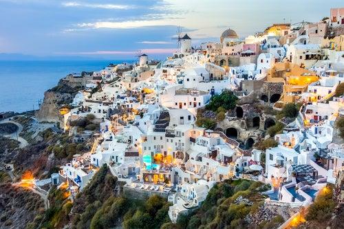 Oia en las islas griegas