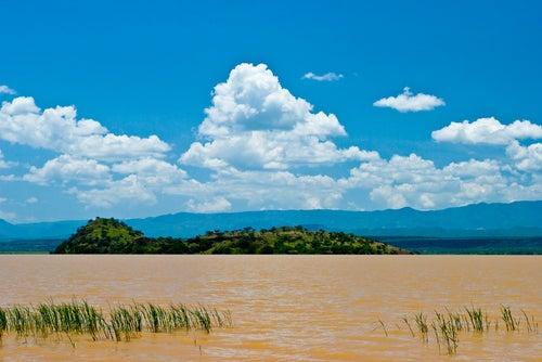 Vista del lago Victoria