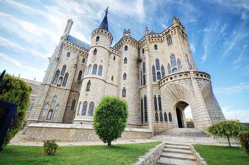 Palacio Episcopal de Astorga, una de las obras de Antoni Gaudí