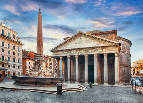 Fuente del Panteón de Agripa en Roma